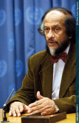 Un momento dell'intervento di Pachauri alle Nazioni Unite come Presidente dell'IPCC