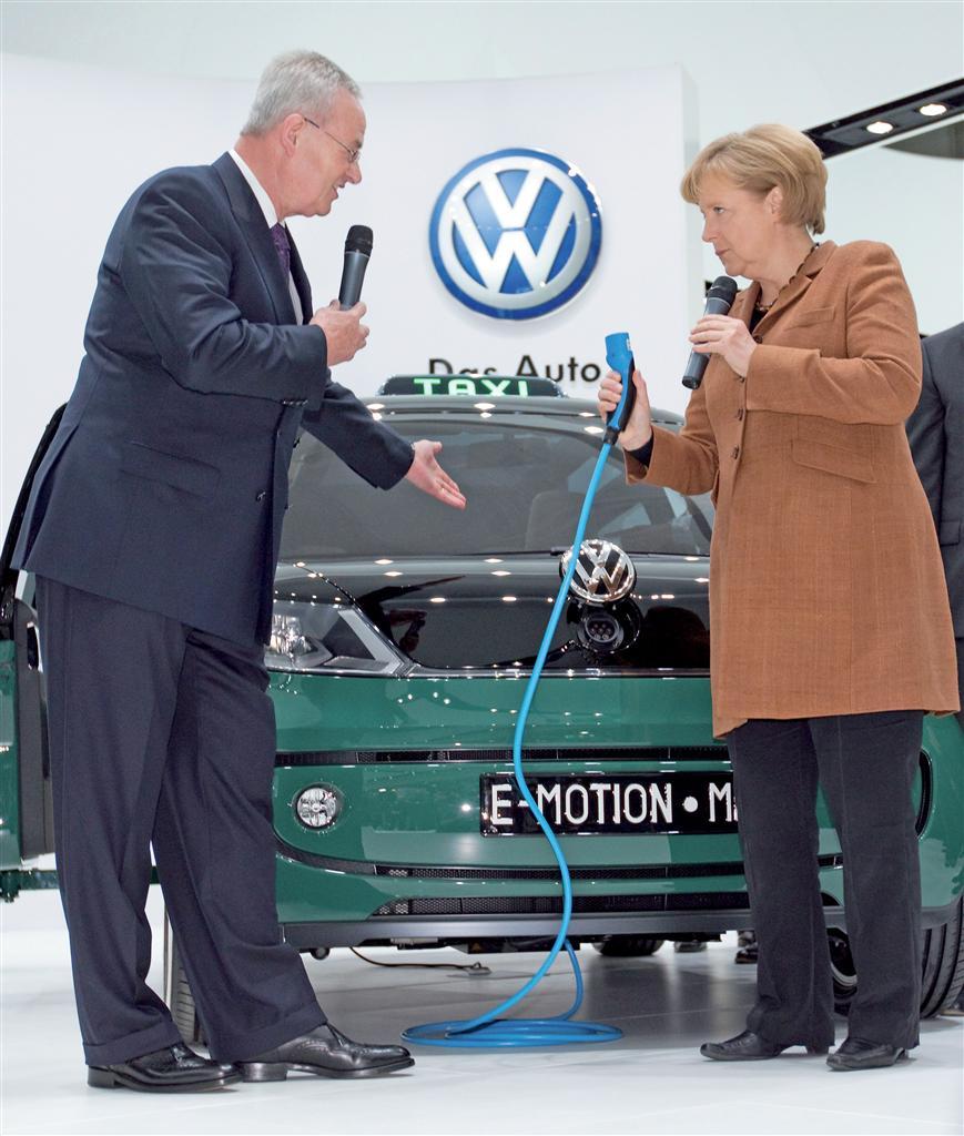 Il Presidente del Gruppo Volkswagen e la Cancelliera Angela Merkel