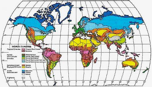 Categorie climatiche mondiali