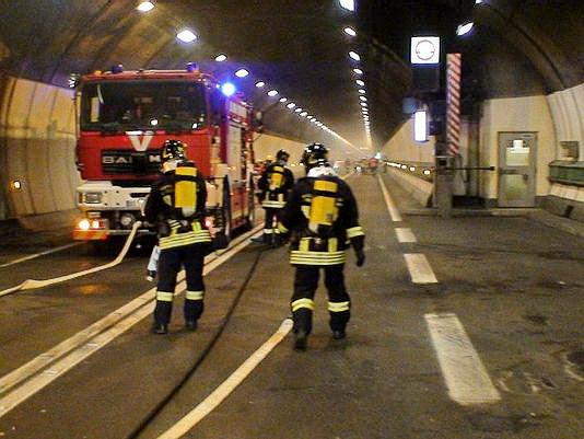 Tunnel del Monte Bianco, esercitazione