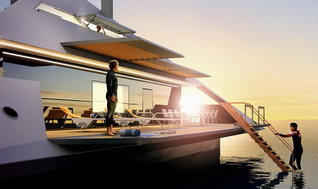 Tetrahedron yacht
